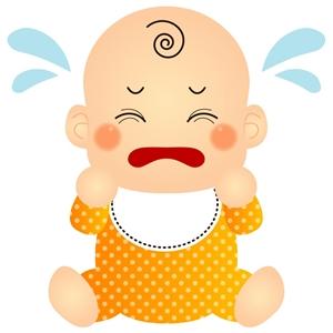 赤ちゃんが便秘で泣く